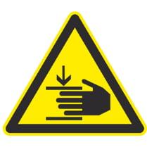 Знак «Осторожно, возможно травмирование рук»
