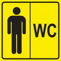 Знак «Мужской туалет»