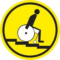 Знак «Осторожно! Лестница вниз»